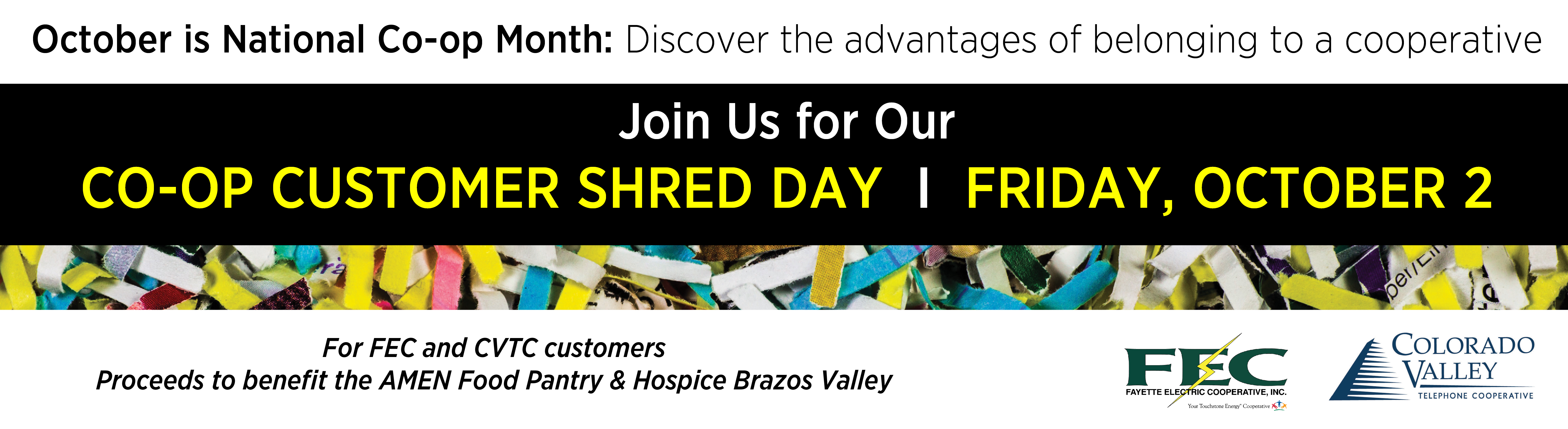 Join us for Co-op Customer Shred Day - October 2